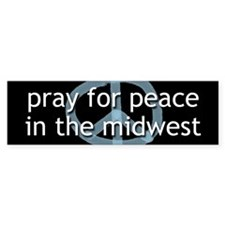 Peace in the Midwest Bumper Bumper Sticker
