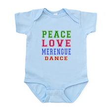 Peace Love Merengue Dance Infant Bodysuit