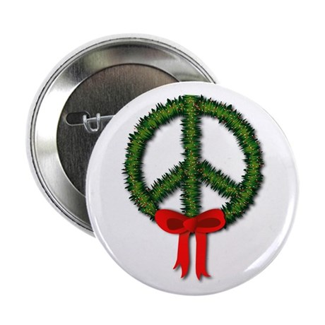 "Peace Wreath 2.25"" Button (10 pack)"