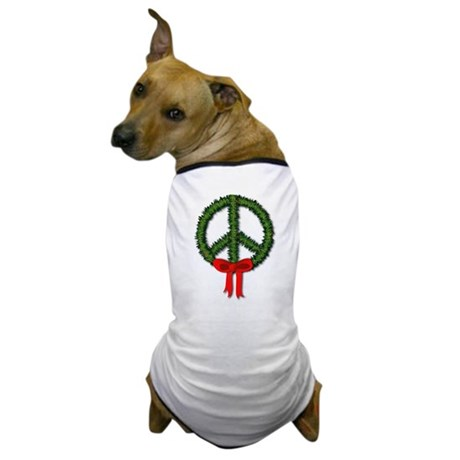 Peace Wreath Dog T-Shirt