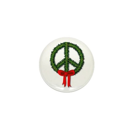 Peace Wreath Mini Button