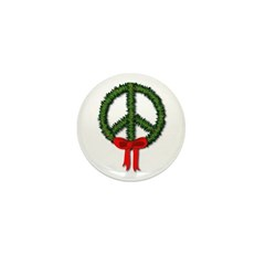 Peace Wreath Mini Button (100 pack)