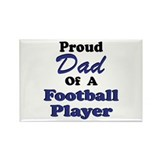 Proud Dad Football Player Rectangle Magnet