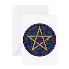 Purple Pentacle Greeting Card