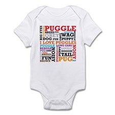 Puggle Words Infant Bodysuit