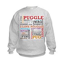 Puggle Words Sweatshirt