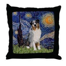Starry Night Aussie #3 Throw Pillow