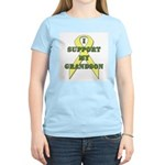 I Support My Grandson Women's Pink T-Shirt