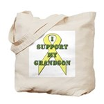I Support My Grandson Tote Bag