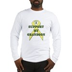 I Support My Grandson Long Sleeve T-Shirt