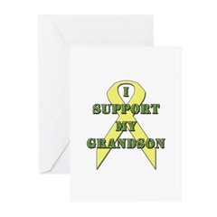 I Support My Grandson Greeting Cards (Pk of 10