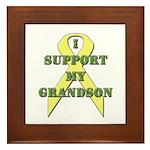 I Support My Grandson Framed Tile
