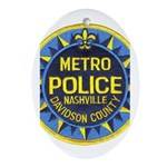 Nashville Police Oval Ornament