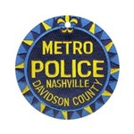 Nashville Police Ornament (Round)