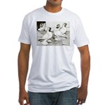 Moorhead Tumbler Pigeons Fitted T-Shirt