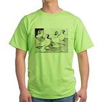 Moorhead Tumbler Pigeons Green T-Shirt