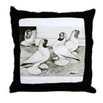 Moorhead Tumbler Pigeons Throw Pillow
