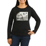 Moorhead Tumbler Pigeons Women's Long Sleeve Dark