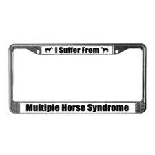 Multiple Horse Syndrome License Plate Frame