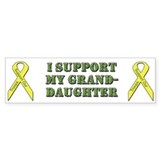 I Support My Granddaughter Bumper Bumper Sticker
