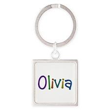 Olivia Play Clay Square Keychain