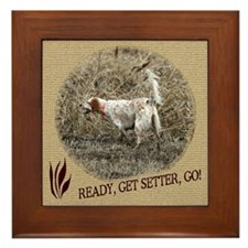 Ready, Get Setter, Go! Framed Tile