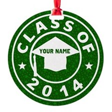 Class Of 2014 Graduation Round Ornament
