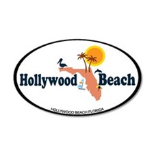 Hollywood Beach - Map Design. Wall Decal