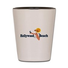 Hollywood Beach - Map Design. Shot Glass