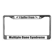 Great Dane License Plate Frame