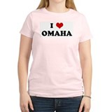 I Love OMAHA Women's Pink T-Shirt