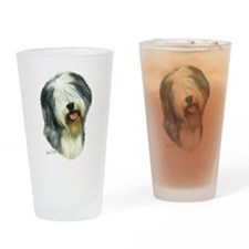 Old Eng. Sheepdog / Bobtail Drinking Glass