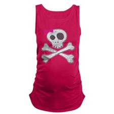Vintage Skull Girl Maternity Tank Top