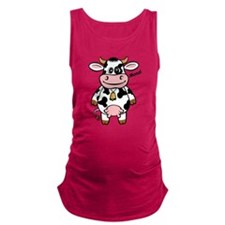 funny_cow2.png Maternity Tank Top