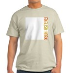 English Horn Stamp Ash Grey T-Shirt