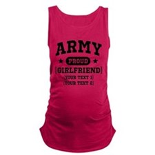 Cute Army girlfriend Maternity Tank Top