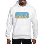 Love & Peace hands Hooded Sweatshirt