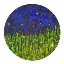 Fireflies Round Car Magnet