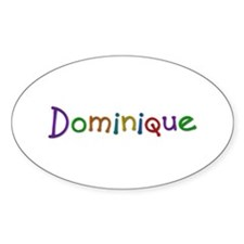 Dominique Play Clay Oval Decal
