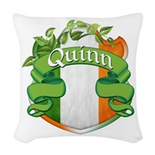 Quinn Shield Woven Throw Pillow