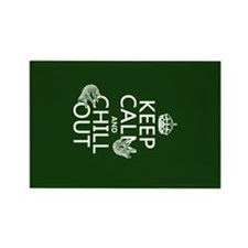 Keep Calm and Chill Out (Sloths) Rectangle Magnet