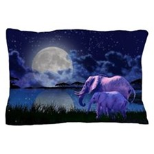 Contemplative Elephants Pillow Case