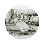 Texan Pioneer Pigeons Ornament (Round)