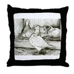 Texan Pioneer Pigeons Throw Pillow