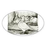 Texan Pioneer Pigeons Oval Sticker