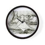 Texan Pioneer Pigeons Wall Clock