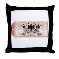 Red Class of 2017 Tag Throw Pillow