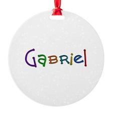 Gabriel Play Clay Ornament