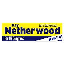 Ray Netherwood Bumper Bumper Sticker