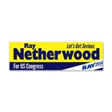 Ray Netherwood Car Magnet 10 x 3